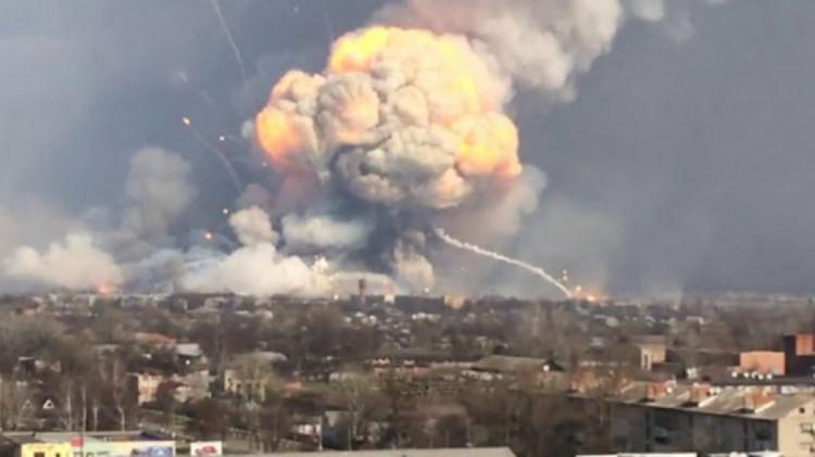 В Харьковской области взорвали Лозовский и Балаклейский арсеналы
