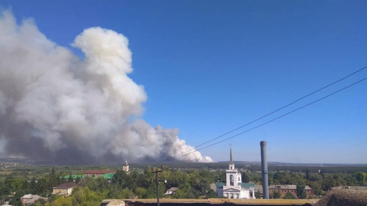 Лесной пожар в Чугуеве