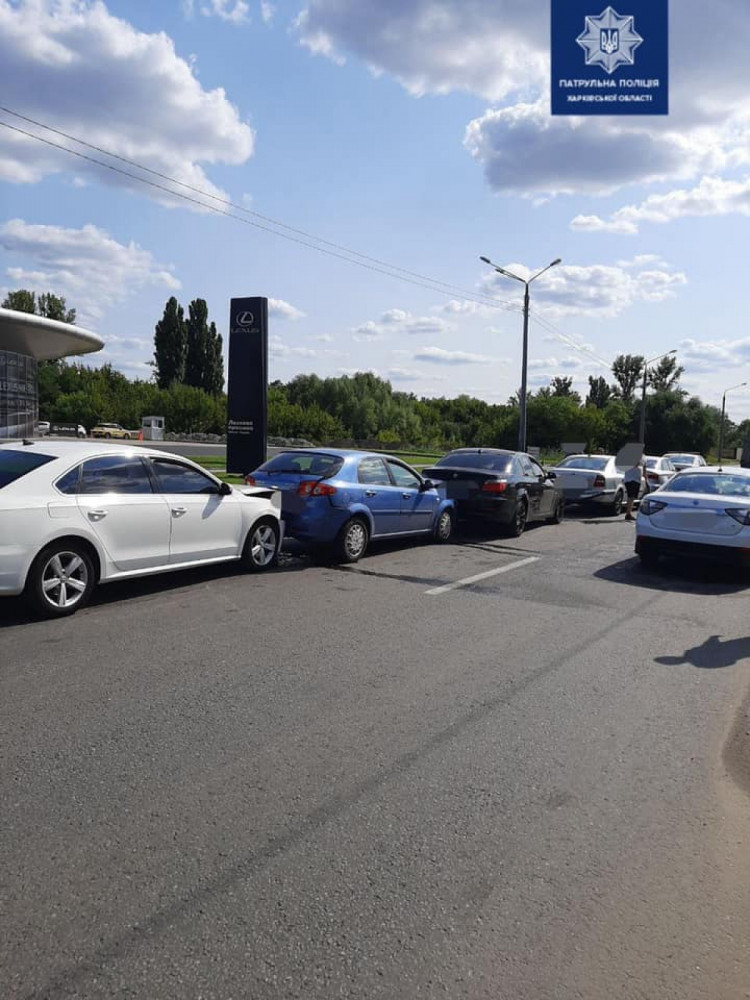 В Харькове столкнулись п & quot; пять машин